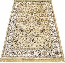 WEBTAPPETI Klassisch Teppich Orient Sarouk Effekt Lucente Rubine 492-oro 2 pz. cm.70x110 + 1 pz. cm. 80x150 gold