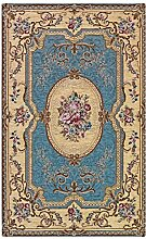 WEBTAPPETI Teppich Aubusson Farbe hellblau Muster