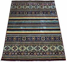 WEBTAPPETI Teppich Klassisch Haus Ost Kazakh 1612B Red Cm. 140X200 mehrfarbig