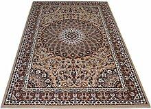WEBTAPPETI Teppich Klassisch in persisch Eleganter Stil und raffinato-disponibile in verschiedenen Größen erhältlich ROYAL SHIRAZ 2082-beige 1 pz. cm.70x130 + 2pz. cm.55x105 beige