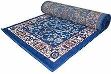 WEBTAPPETI Wirtschaftliche Teppich Klassisch hellblau–einfach reinigen und sehr langlebig ROYAL SHIRAZ 2079-light Blue Cm. 70x500 hellblau