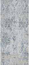 WEBTEPPICH 133/190 cm Blau, Weiß