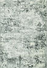 WEBTEPPICH 133/195 cm Grau, Weiß