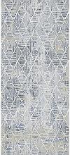 WEBTEPPICH 160/230 cm Blau, Weiß