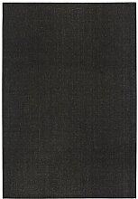 Webteppich Kurzflor Flachgewebe Uni anthrazit 160 x 240 cm . Weitere Farben und Größen verfügbar