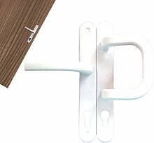 Wechselgarnitur Türdrückergarnitur Türgriff Tür 92mm PZ Weiss oder Braun B-Ware, Farbe:weiß