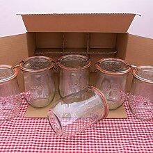 WECK 1,0l Einmachglas 1000ml Tulpen-Form -
