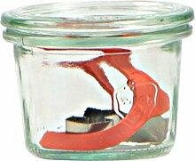 Weck Glas 80ml mit Deckel von 60mm, komplett