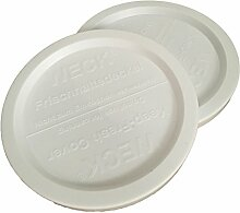 Weck Glas Frischhalte Deckel aus Kunststoff, 2er