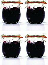 Weck Glas mit Deckel - Mini Glas Gläser für