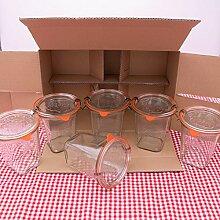 WECK Quadroglas 1/2L Einmachglas 500ml verwendbar
