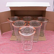 WECK Quadroglas 3/4L Einmachglas 750ml verwendbar
