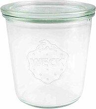 Weck rund Rand Form Jar, Glas, durchsichtig, 580 ml