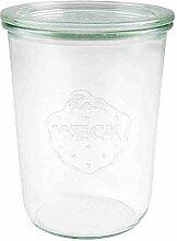 Weck rund Rand Form Jar, glas, durchsichtig, 850 ml