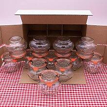 WECK Schmuckglas 1/4L Einmachglas 250ml verwendbar