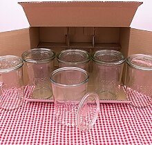 WECK Sturzglas 3/4L Einmachglas 850ml verwendbar