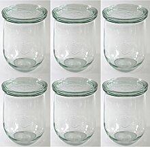 Weck-Tulpen-Glas, runder Rand, glas, durchsichtig,