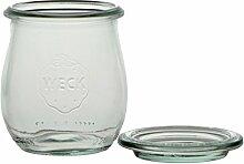 Weck Tulpenform-Glas, 220ml, mit Deckel 60mm,