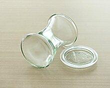 Weck Vorratsglas mit rundem Rand, 370 ml,