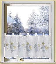 Weckbrodt Scheibengardine Astrid, Voile 45 cm,