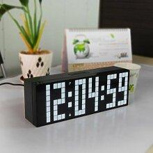 Wecker Digital Uhr ,Umsky LED Elektronischer Wanduhr Timer Alarm Countdown Wecker Tischuhr -weiß
