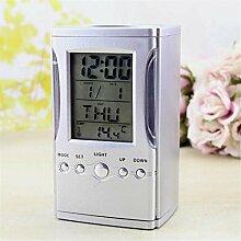 Wecker Kreative LCD Display Elektronische Digitalen Schreibtisch Tischkalender Thermometer Wecker Stifthalter Schule Bürobedarf (batterien nicht enthalten)