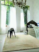wecon home Anna Creme beige Hochflor-Teppich,