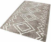 Wecon home Teppich, Polyester, anthrazit, 80x150