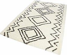 Wecon home Teppich, Polyester, weiß, 120x170