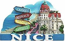 Wedare Nice France 3D-Kühlschrank-Magnet Tourist