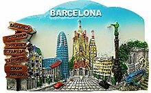 wedaredai 3D Barcelona Spanien Kühlschrank Magnet
