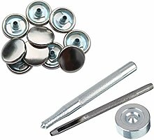 Weddecor Beige 15mm Druckknöpfe Robust Metall