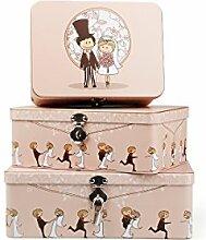 Wedding Boxenset 3-fach mit Schloss Geldbox Erinnerungsbox Briefbox