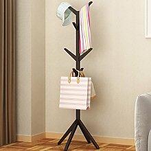 WEEKDEGY Garderobe Einfache Kleidung Baum mit einem festen Holz Aufhänger Haushalt Schlafzimmer vertraglich Landung Kleidung Rack europäischen modernen Ideen (Farbe : A)