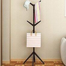 WEEKDEGY Garderobe Einfache Kleidung Baum mit einem festen Holz Aufhänger Haushalt Schlafzimmer vertraglich Landung Kleidung Rack europäischen modernen Ideen (Farbe : D)
