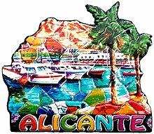 Weekino Alicante Spanien Kühlschrankmagnet 3D