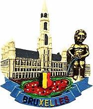 Weekino Brüssel, Belgien Kühlschrankmagnet 3D
