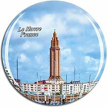 Weekino Frankreich Le Havre Kühlschrankmagnet 3D