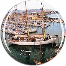 Weekino Frankreich Port Toulon Kühlschrankmagnet