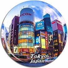 Weekino Ginza Tokyo Japan Kühlschrankmagnet 3D