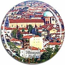 Weekino Italien Vicenza Kühlschrankmagnet 3D