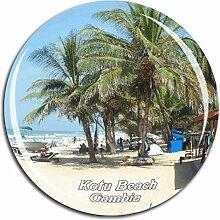 Weekino Kotu Beach Gambia Kühlschrankmagnet 3D