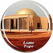 Weekino Lome Togo Kühlschrankmagnet 3D