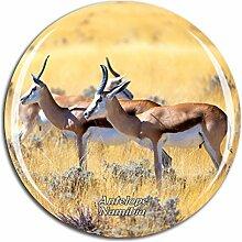 Weekino Namibia Antilope Kühlschrankmagnet 3D