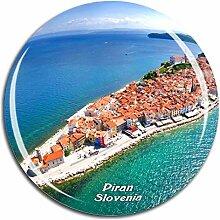 Weekino Piran Slowenien Kühlschrankmagnet 3D