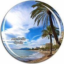 Weekino Spanien Marbella Beach Kühlschrankmagnet
