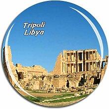 Weekino Tripolis, Lybien Kühlschrankmagnet 3D