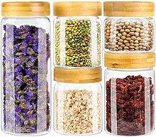Weetall Vorratsdosen aus Glas für die Küche, 5
