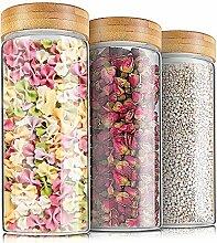 Weetall Vorratsdosen aus Glas für Küche, 3