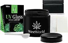 Weeworld 100 ml UV-Glas Vorratsdosen Set –